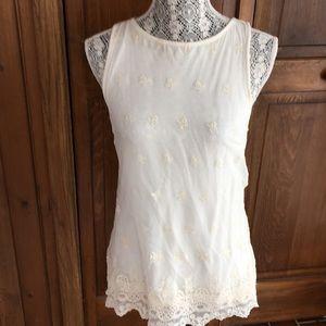NWT Tart Lace Overlay sleeveless top Small